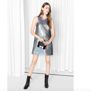 & Other Stories NWT Metallic A Line dress size 6